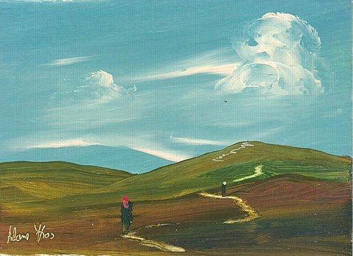 Adam Kos- I'll follow you  #art #painting #Westmeath #path #road #cottage #Ireland #DukeStreetGallery