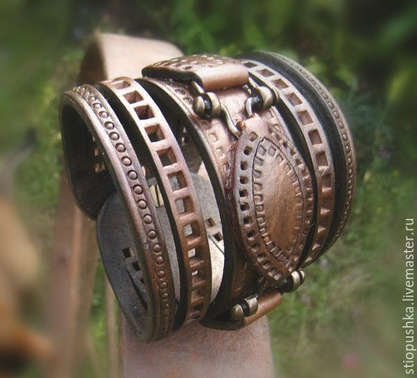 Купить Браслет кожаный Стиль - коричневый, мужской браслет, женский браслет, подарок девушке