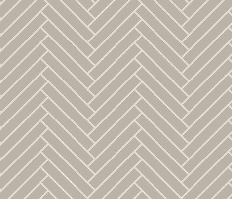 herringbone_greige fabric by ravynka for sale on Spoonflower - custom fabric, wallpaper and wall decals