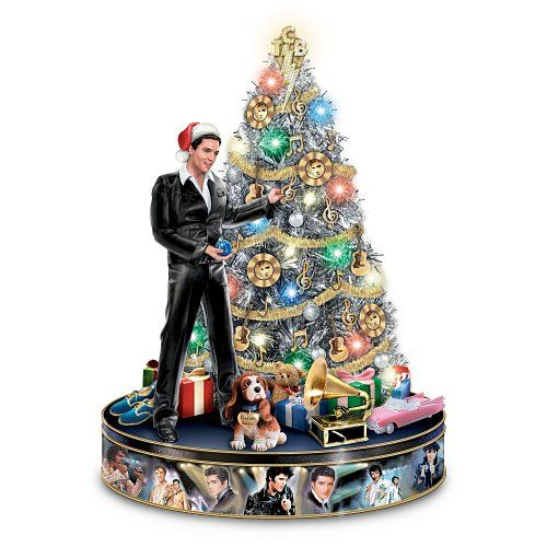 The Ultimate Disney 50 Character Tabletop Christmas Tree: Elvis Rock 'N' Roll Pre-Lit And Musical Tabletop Christmas