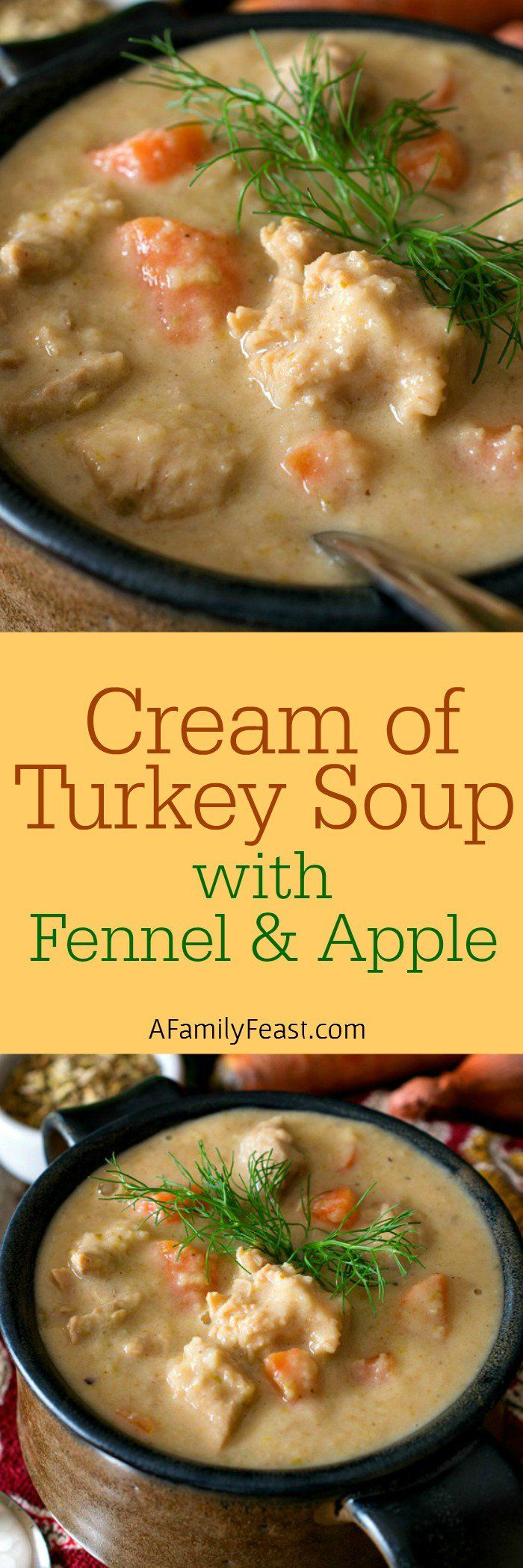 Soup with Fennel and Apple - Not your average cream of turkey soup ...