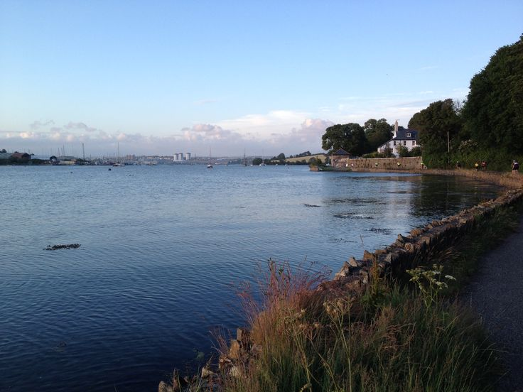 Looking towards Plymouth from Anderton, by Millbrook lake, on the Rame peninsula, South East Cornwall.