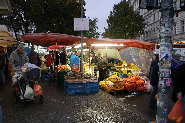 The Turkish market on Maybachufer, Berlin Kreuzberg. Every Tuesday and Friday for cheap veggies