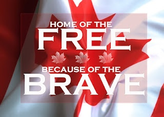 Home of the FREE because of the BRAVE (Canada version) - free 5X7 printable