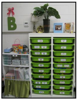 From IKEA :: Clutter-Free Classroom: Organizing Math Manipulatives in the Classroom {tips, ideas, & photos}