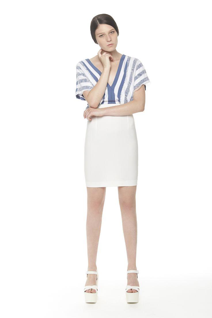 #ERAKLE #SS16 striped dress with lace