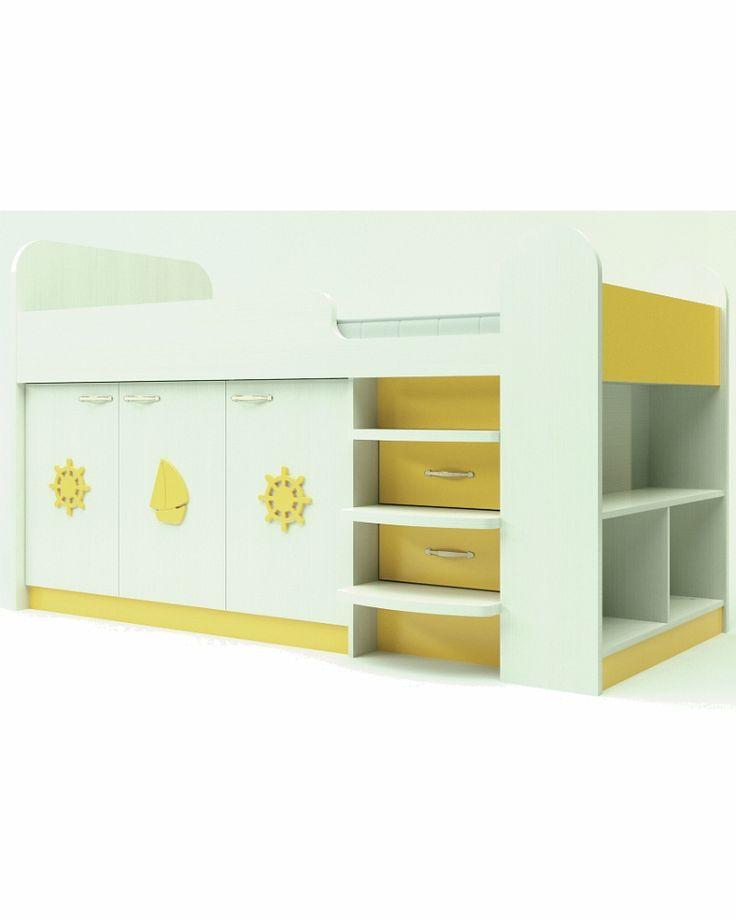 Кровать для мальчика Аллегро желтая пастель      Серия мебели Аллегро Fema Baby…