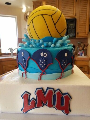 Water Polo Cake.  Loyola Marymount University Women's Water Polo Team  2016.