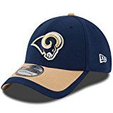 Youth's Los Angeles Rams Navy/Gold 2015 On-Field 39THIRTY Flex Hat