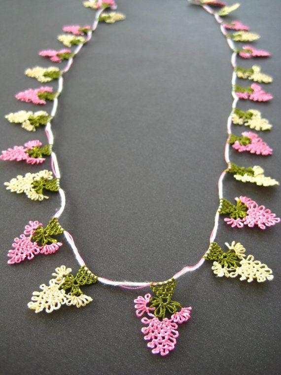 turkish oyacrochet flower applique/edgefloral lace by EnjOOya