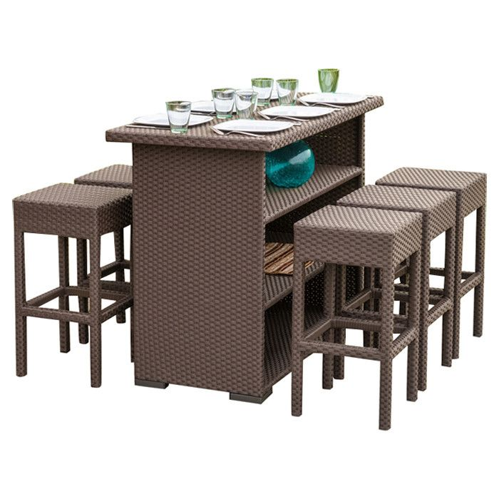 Silverton 7 Piece Outdoor Bar Set