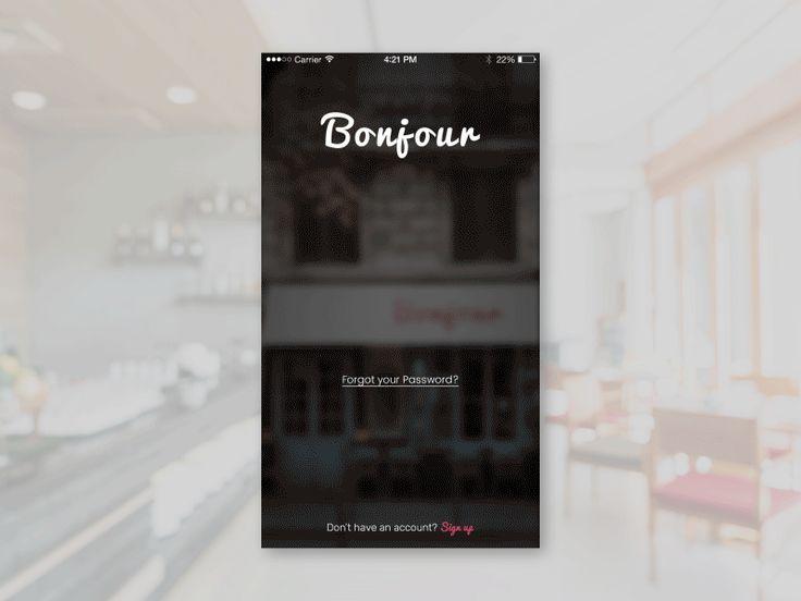Bonjour Restaurant Menu  by Framgia Design