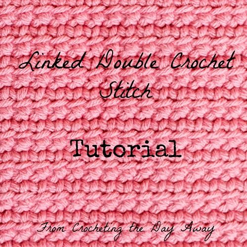 How to #crochet linked double crochet stitch @menglar