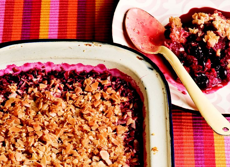 Berry crumble - HomeChoice Cookbook Volume I. Find the recipe here:  http://hometalk.homechoice.co.za/content/berry-crumble