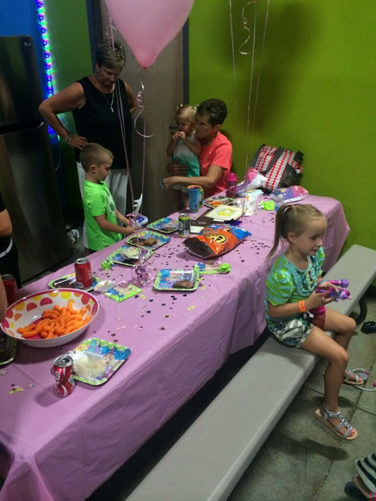 August 17 birthday party in the green and blue room. Happy birthday!