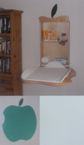 Fold Down Baby Changing Table Apple Design Green