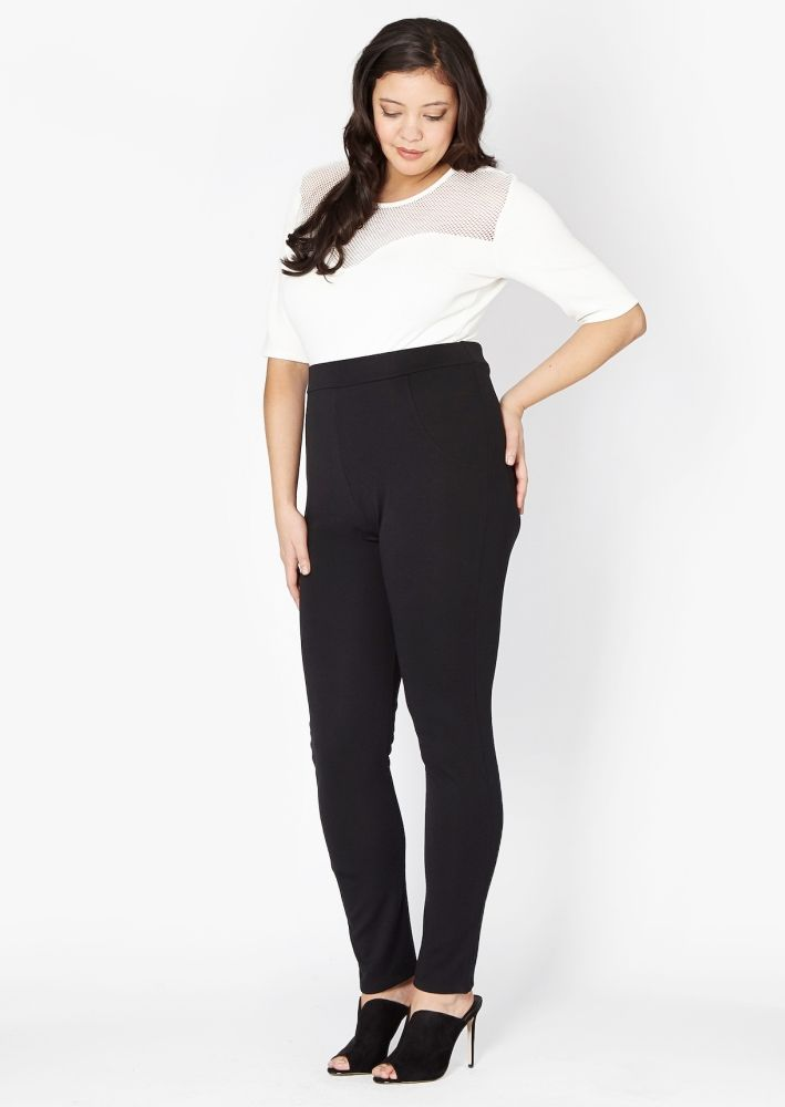 Plus Size Bessie High Waisted Cigarette Trouser
