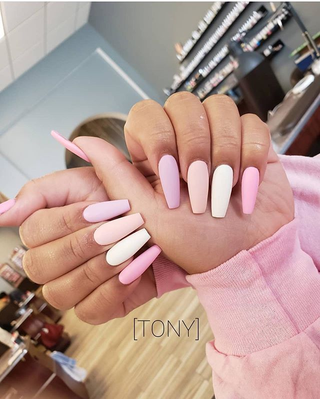 Pretty In Pastel Nail Colors Designs To Try This Season Pastel Nails Designs Easter Nails Long Acrylic Nails