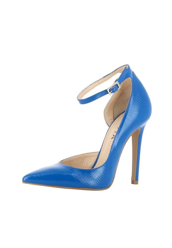 EVITA Pumps halboffen Damen, Blau, Größe 38