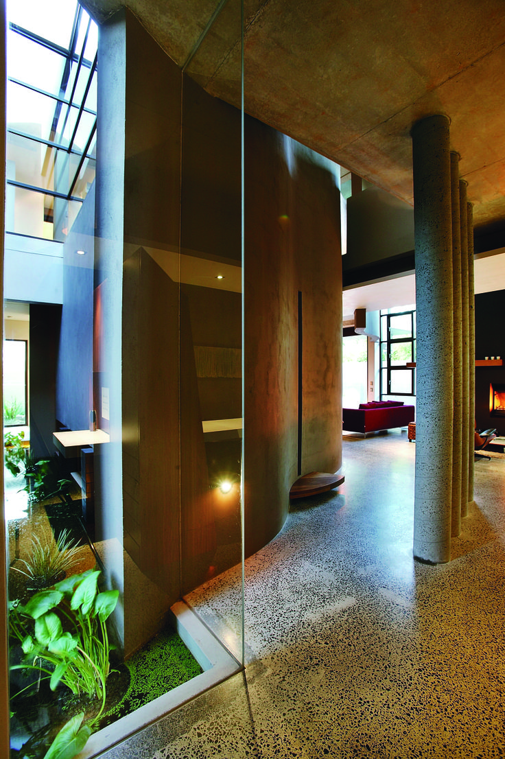 hall way, glass, architecture, design designed by Frank Macchia, built by Classic Projects