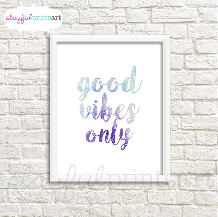 Good Vibes Only Print, 8x10, Instant Download by playfulprintsart on Etsy