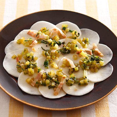 かぶのカルパッチョ風サラダ | 牛尾理恵さんのおつまみの料理レシピ | プロの簡単料理レシピはレタスクラブニュース