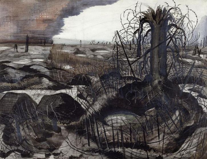 Paul Nash, 'Wire', 1918