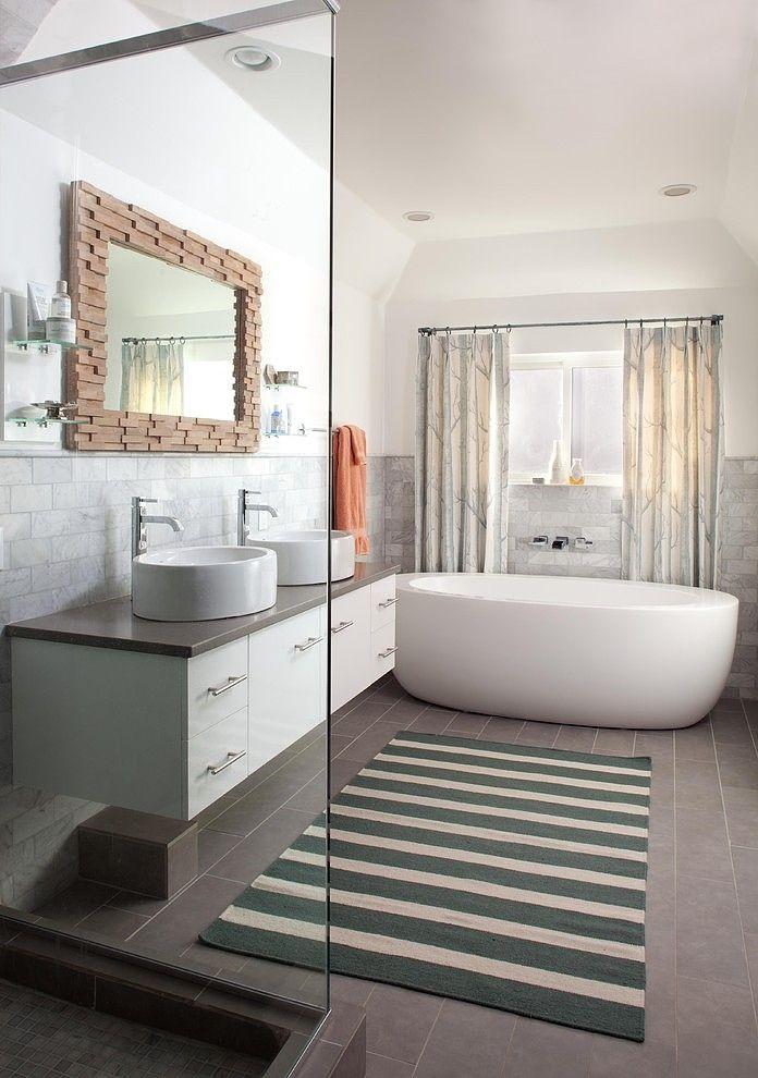 lo hi residence eclectic bathroom denver ashley campbell interior designlove that tub - Eclectic Bathroom Interior