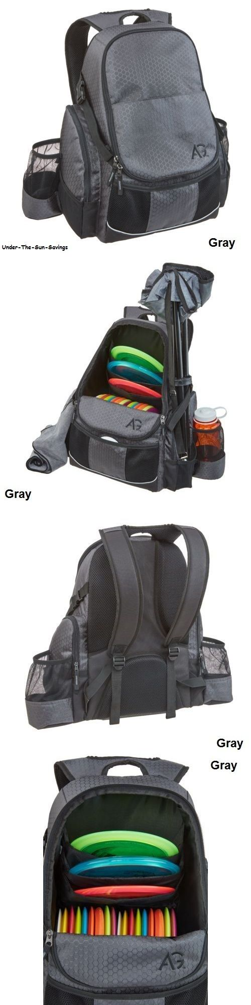 Disc Golf 20851: Disc Golf Frisbee Bag Gray Outdoor Deluxe Backpack Holds 21+ Sports Discs New -> BUY IT NOW ONLY: $40.85 on eBay!