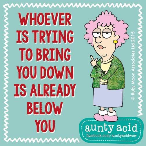 Is already below you