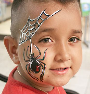 spider face painting - Google Search                                                                                                                                                                                 More