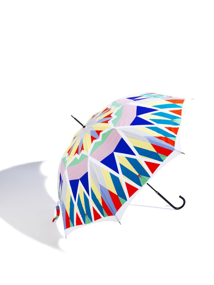 """""""Carousel """"Walking stick umbrella from David David.   Probably too bright for me, but it sure is cool anyway!"""