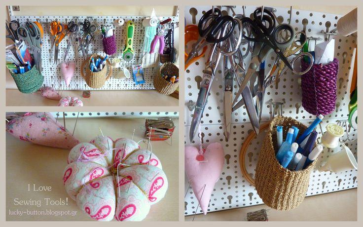 Organizer Wall Display, sewing tools