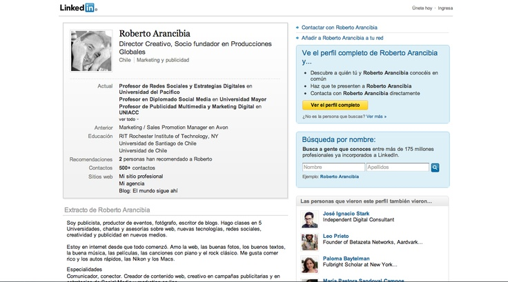 Linkedin:  http://www.linkedin.com/in/robertoarancibia