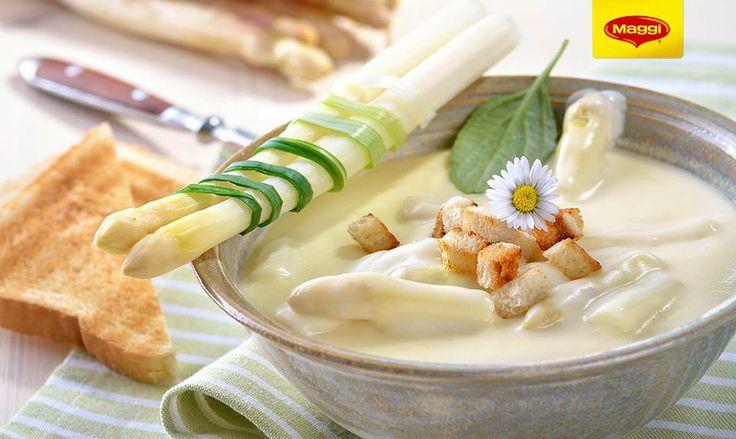 Asparagus soup // Supa crema de sparanghel  -> https://www.facebook.com/MAGGI.Romania/photos/a.631324773607616.1073741827.287189181354512/631325046940922/?type=1&theater