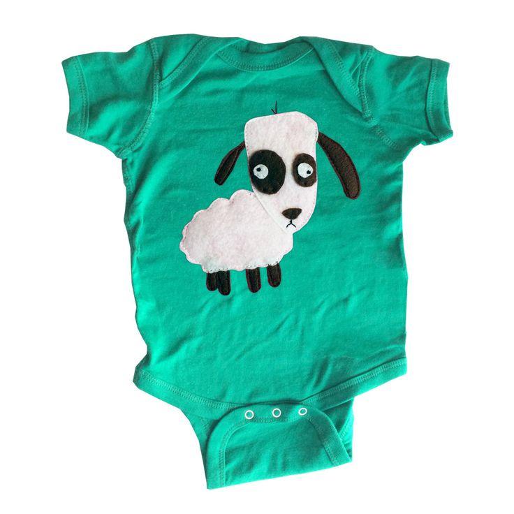 mi cielo x Matthew Langille - Sheep – Kelly Green Infant Bodysuit – Boys or Girls by micielomicielo on Etsy
