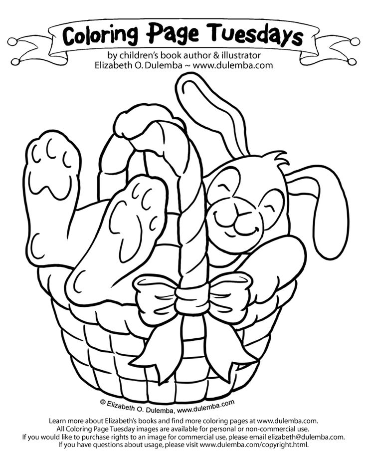 Printable Coloring Pages Easter Bunny Basket 14