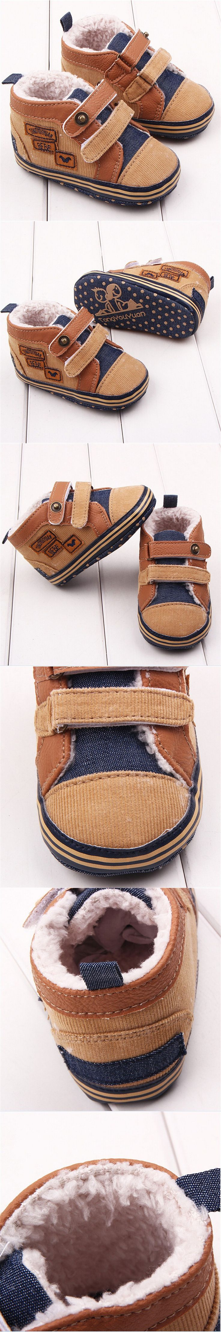 1 pair 11-13cm Infant Toddler Baby Shoes New Born Leather Baby Moccasins PU Leather Boy Shoe Winter Infantil Baby Girl Boots