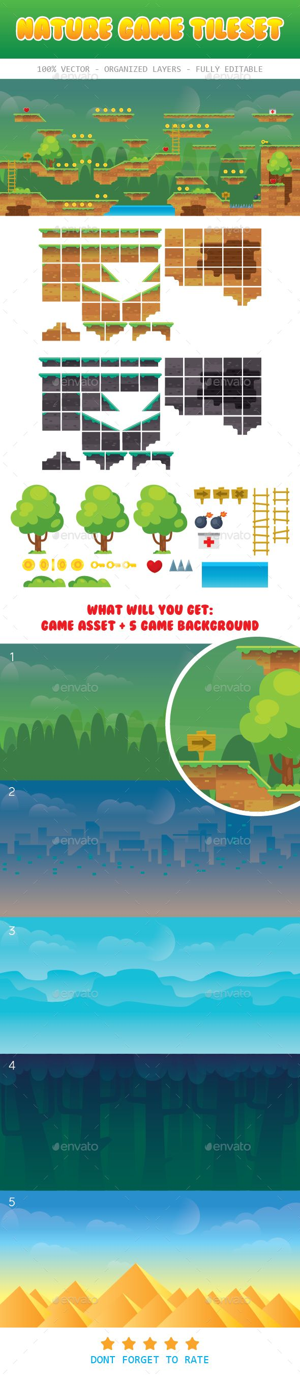 Nature Game Platformer for Adventure