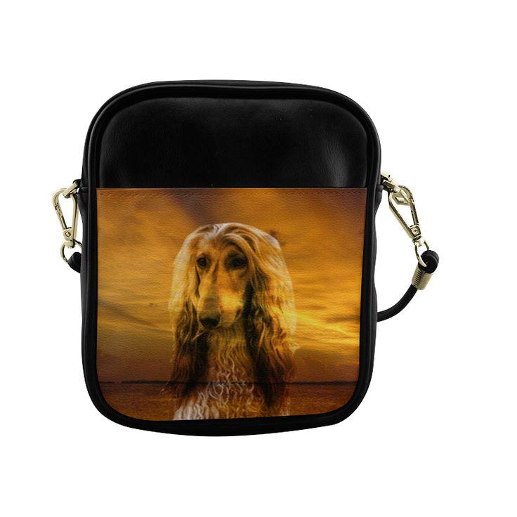 Dog Afghan Hound Sling Bag (Model 1627)