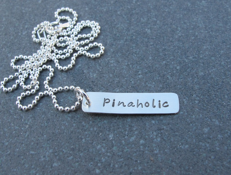 Hello I am a Pinaholic Hand Stamped Necklace by klacustomcreations, $38.90: Pinahol Hands, Custom Creations, Hand Stamped Necklace, Kristen Custom, Pinterest Addiction, Pinahol Necklaces, Hands Stamps Necklaces, I Am, 38 90