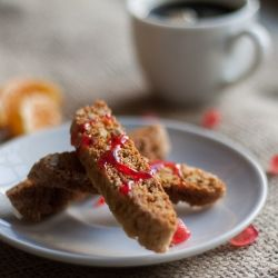 ... clementine biscotti with pomegranate syrup was made. Worth every batch