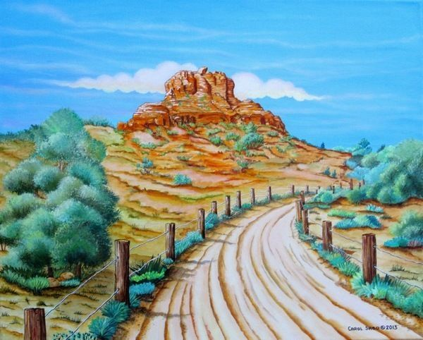Bell Rock Sedona AZ-Orig. painting by the artist, Realism, famous location #Realism
