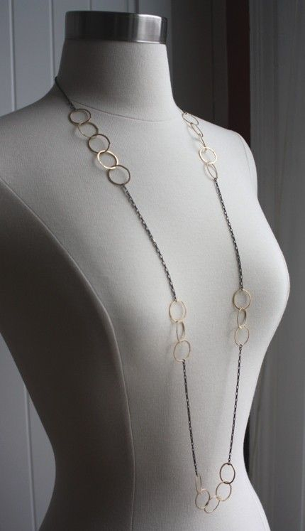 Long Orbit Necklace. $134.00, via Etsy.