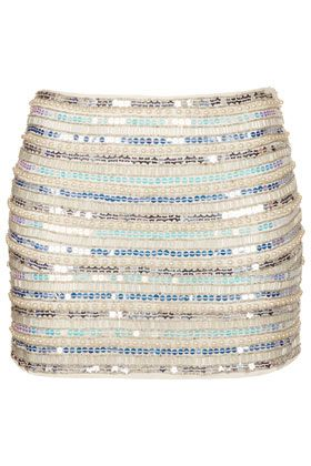 Pearl and Sequin Mini Skirt