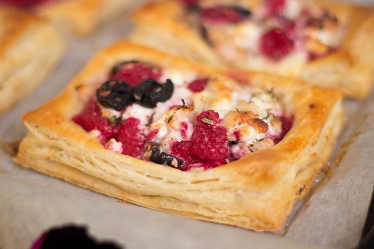 Cooked spelt rough puff pastry