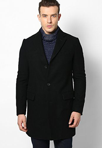 Black Full Sleeve Overcoat
