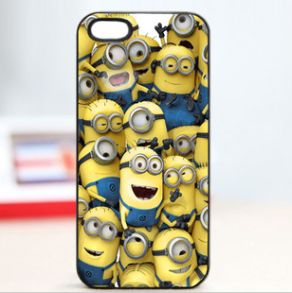 Price:$15.99 Color: As picture Material: Plastomer espicable Me  Cartoon Figure Phone case for iPhone 4S5G