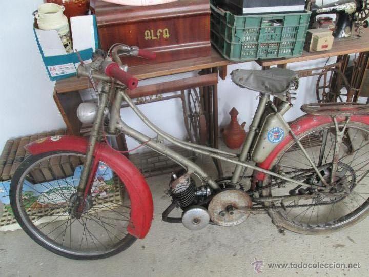 bonita moto antigua marca motobecane des pue mobilete del año 20 al30 - Foto 1