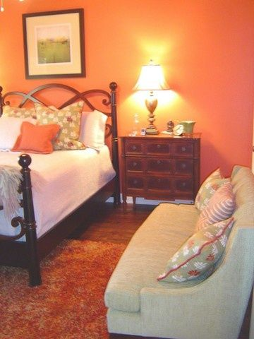 17 Best Images About Orange Bedroom On Pinterest Paint